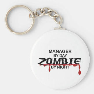 Manager Zombie Basic Round Button Keychain