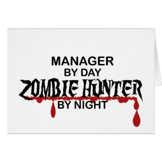 Manager Zombie Hunter Card