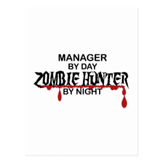 Manager Zombie Hunter Postcard