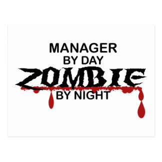 Manager Zombie Postcard