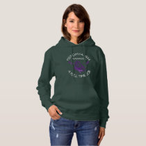 Managing Fibromyalgia Purple Awareness Ribbons Hoodie
