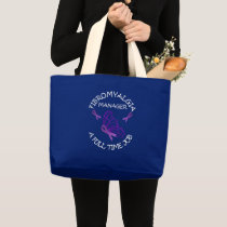 Managing Fibromyalgia Purple Awareness Ribbons Large Tote Bag