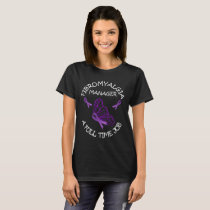 Managing Fibromyalgia Purple Awareness Ribbons T-Shirt