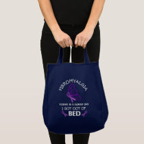 Managing Fibromyalgia Purple Awareness Ribbons Tote Bag