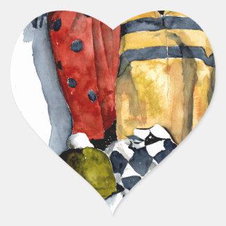 Managing the Fall Art Heart Sticker