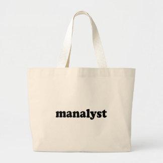 MANALYST JUMBO TOTE BAG