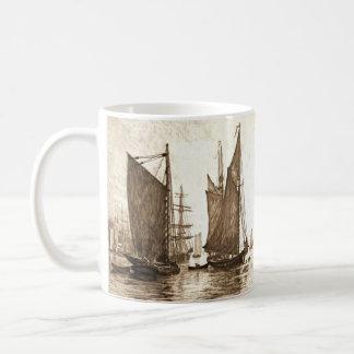 Mañana 1889 del río Hudson Taza De Café