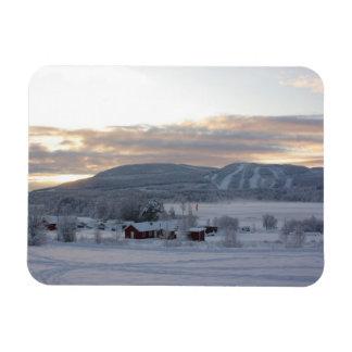 Mañana #1 del invierno imanes de vinilo