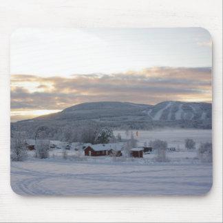 Mañana #1 del invierno tapete de ratón