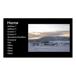 Mañana #1 del invierno tarjetas de visita