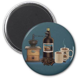 Mañana a igualar el café imán redondo 5 cm