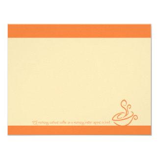 Mañana anaranjada jugosa sin las tarjetas de nota invitación 10,8 x 13,9 cm