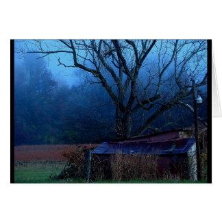 """Mañana azul"" toda la tarjeta de la fotografía de"