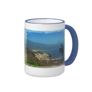 Mañana brumosa en el punto de Nobska - Cape Cod mA Taza A Dos Colores