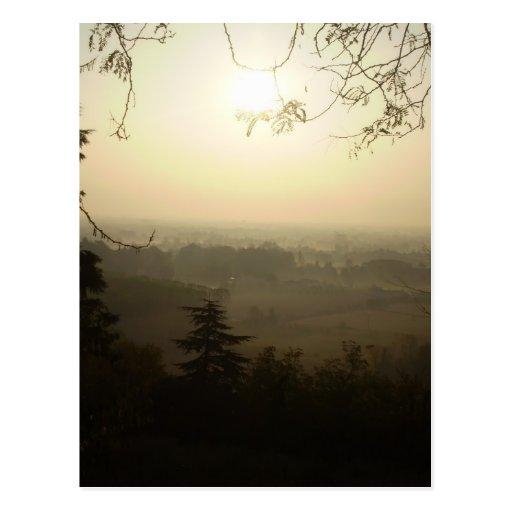 Mañana brumosa en Vicenza Postal