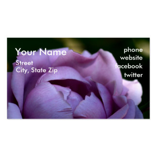 Mañana de la lavanda, su nombre, calle, ciudad, tarjetas de visita