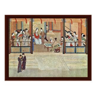 Mañana de la primavera en el palacio de Han de Ch' Tarjetas Postales
