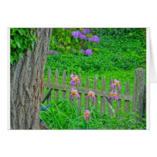 Mañana de la primavera, Lookig hacia fuera la vent Felicitación
