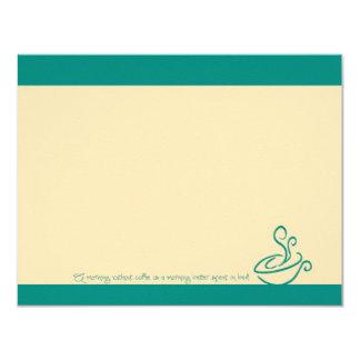 Mañana de la turquesa sin las tarjetas de nota de invitación 10,8 x 13,9 cm