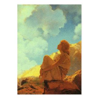 Mañana de Maxfield Parrish, primavera, bella arte Plantilla De Tarjeta De Negocio