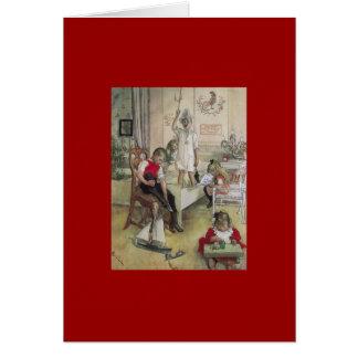 Mañana de navidad de Carl Larsson 1894 Tarjeta De Felicitación
