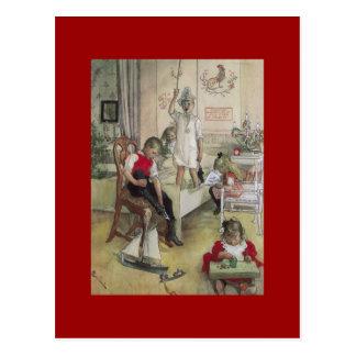 Mañana de navidad de Carl Larsson 1894 Tarjeta Postal