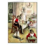 Mañana de navidad de Carl Larsson Tarjeton