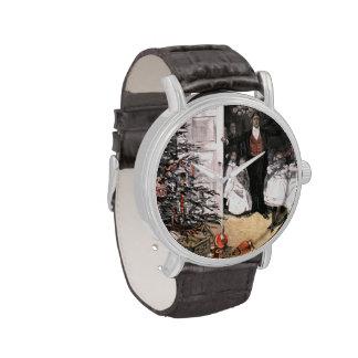 Mañana de navidad del Victorian Relojes De Mano