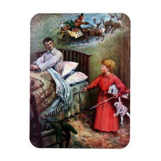 Mañana de navidad iman rectangular