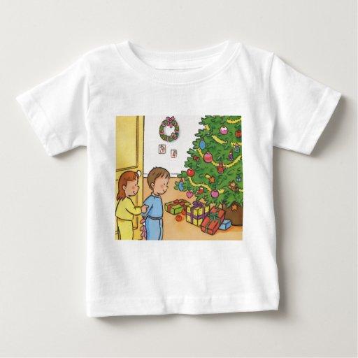 Mañana de navidad playera de bebé
