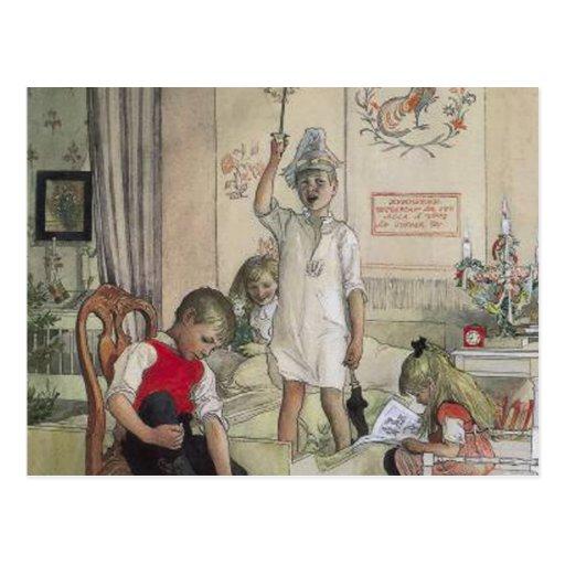 Mañana de navidad tarjeta postal