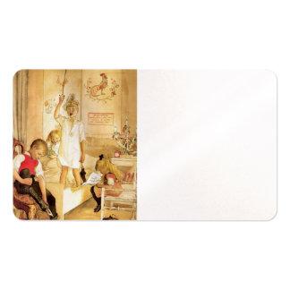 Mañana de navidad tarjetas de visita