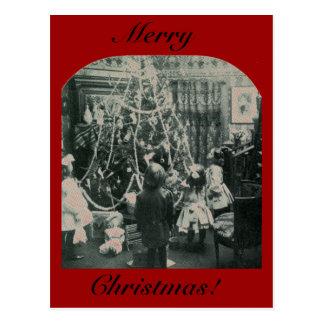 Mañana de navidad - vintage Stereoview Tarjetas Postales