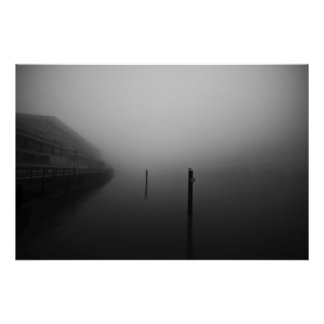 Mañana de niebla de Brisbane Poster
