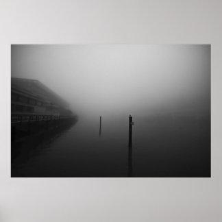 Mañana de niebla de Brisbane Póster