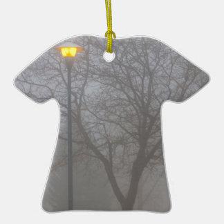 Mañana de niebla ornamento para arbol de navidad