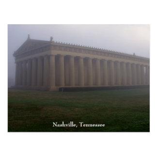 Mañana de niebla en parque centenario tarjetas postales