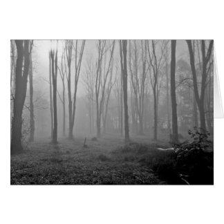 Mañana de niebla tarjeta de felicitación