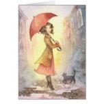 Mañana de niebla - tarjeta de felicitación del chi