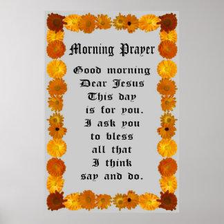 Mañana de oración en un marco del Calendula Impresiones