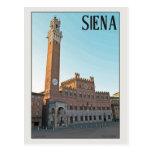Mañana de Siena Palazzo Pubblico Tarjeta Postal