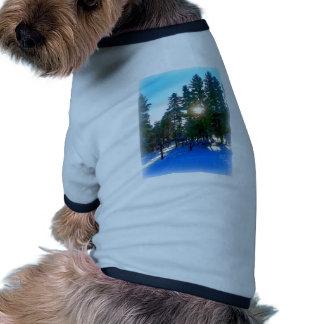 Mañana del invierno ropa perro