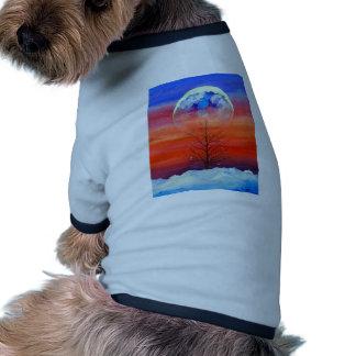 Mañana del invierno camiseta de perro