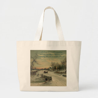 Mañana del navidad - tote enorme #1 bolsas