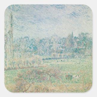 Mañana del otoño, 1892 pegatina cuadrada