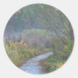 Mañana del otoño pegatinas redondas