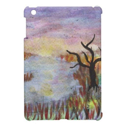 Mañana del pantano iPad mini funda