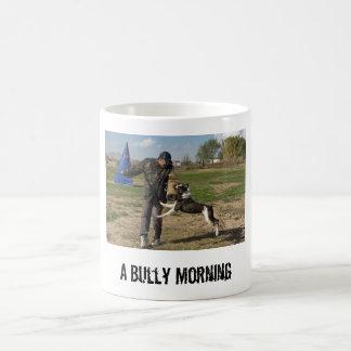 Mañana del perro de Bull del americano Taza De Café