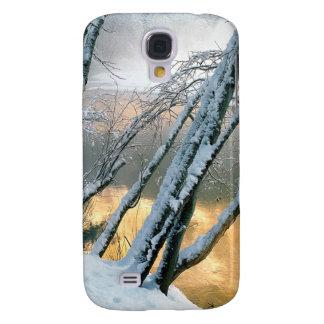 Mañana del río de Merced de los árboles de aliso d Funda Para Galaxy S4