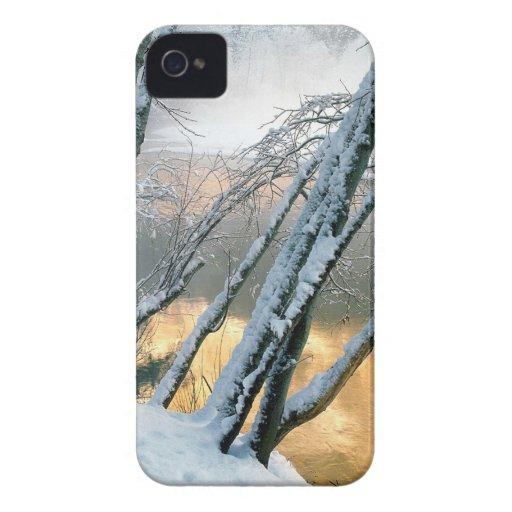 Mañana del río de Merced de los árboles de aliso iPhone 4 Protector